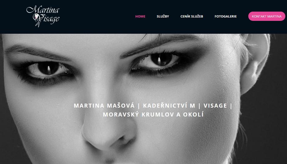martina-visage.cz | webový design Aleš Vaněk | creativepeople.cz